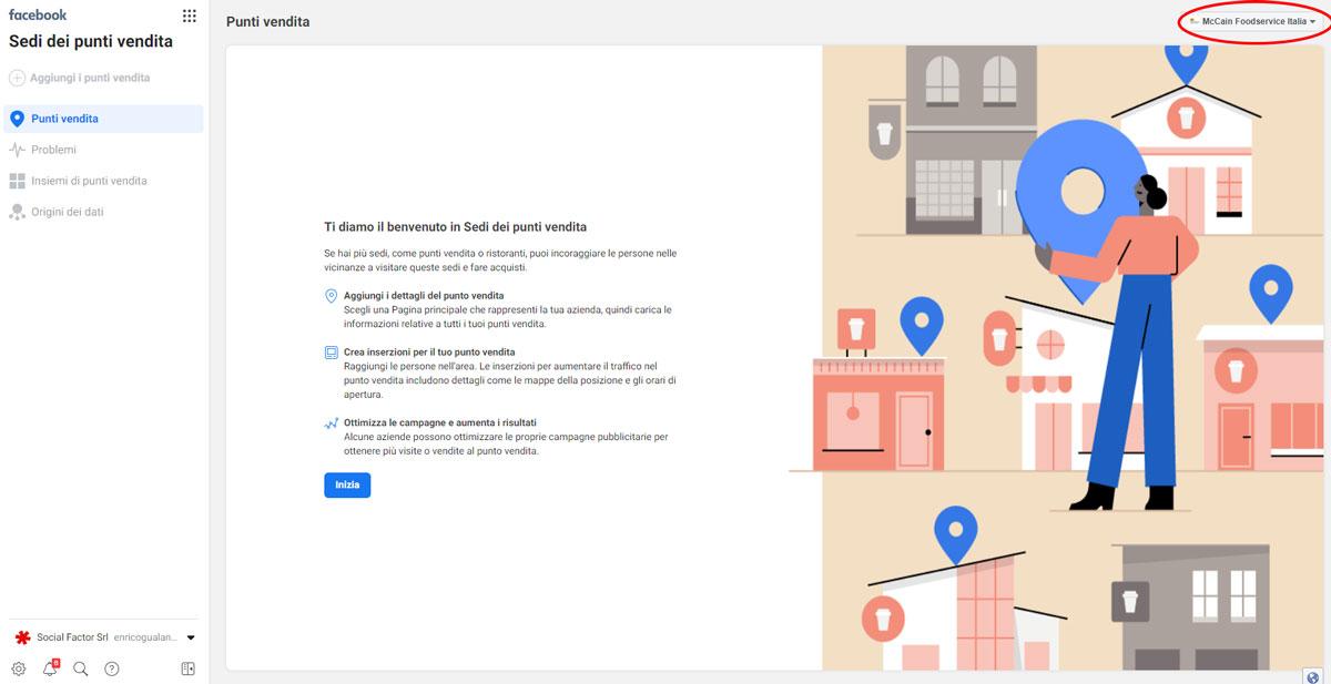 attivare facebook locations