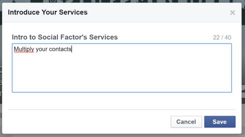 Introduzione Facebook Services