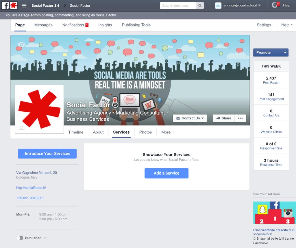 Facebook Tab Services